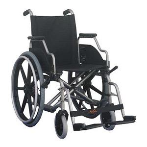 Sillas de ruedas plegables acero