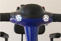 detalle de la luces del scooter Smart
