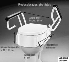 medidas del alza de inodoro AD510