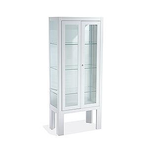 Vitrina pie 2 puertas blancas 6032