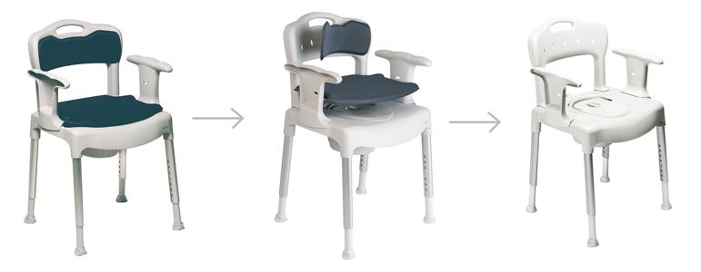 Usabilidad de la silla de wc AD832 para wc y ducha