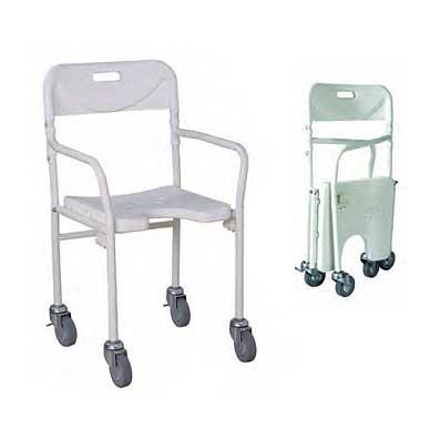 Silla de ruedas de ducha plegable