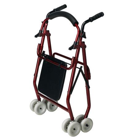 Andador 4 ruedas freno por presión AD160