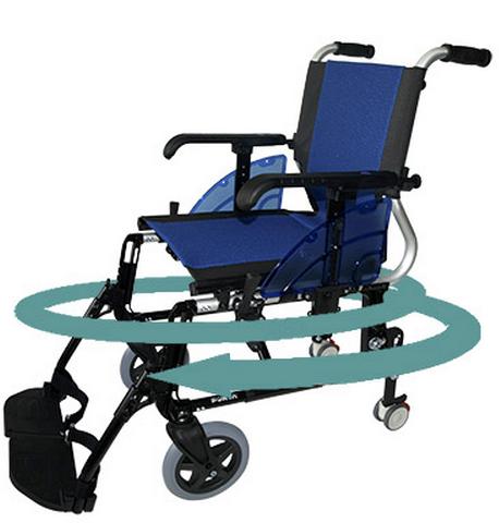 Vídeo silla de ruedas giro