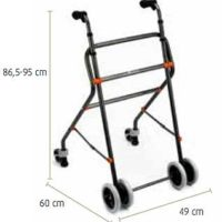 Andador con ruedas supletorias