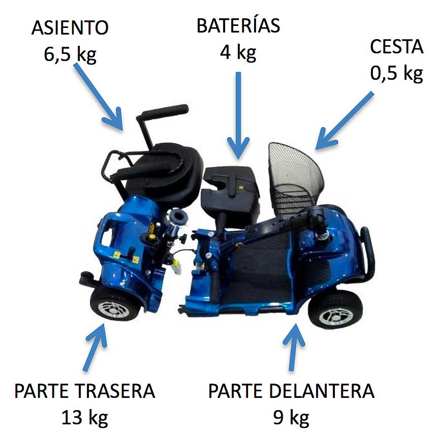 scooter smart 3 ruedas litio