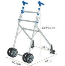 Andador aluminio con asiento y ruedas Sunrise