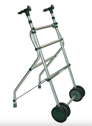 Andador para ancianos de aluminio plegable