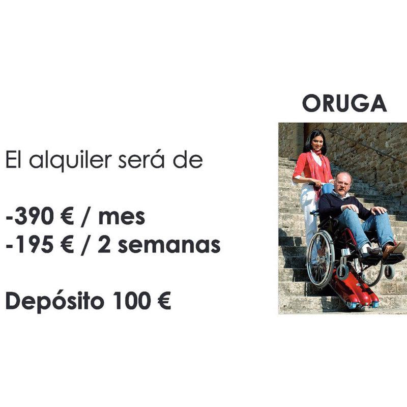 Alquiler de oruga salvaescaleras en Bilbao