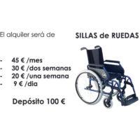 Alquiler de sillas de ruedas en Bilbao