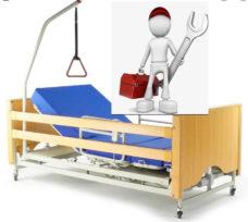 Reparación de camas articuladas o de hospital