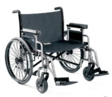 Venta de sillas de ruedas plegables talla grande
